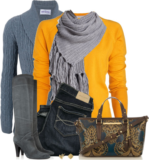 Patch Sweater With Brahmin Tote Bag Fall Outfit Outfitspedia