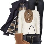 Pea Coat and Ugg Boots Fall Winter Outfit