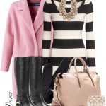 Pink Coat and Sweater Dress Fall Winter Outfit