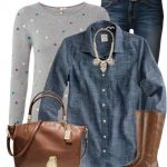 Polkadot Jumper Casual Fall Outfit