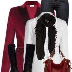 Red Velvet Blazer Outfit