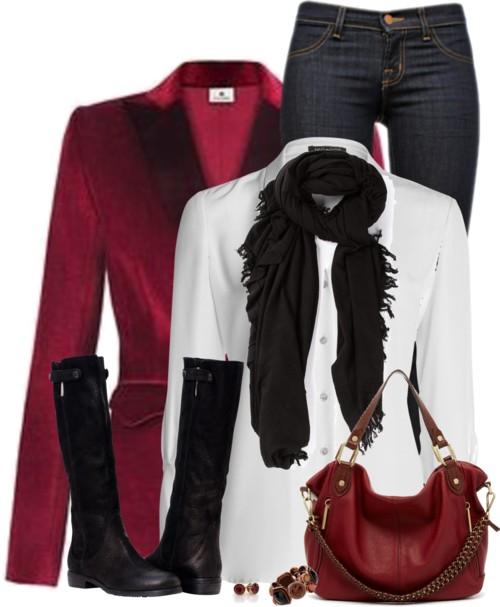Red Velvet Blazer Outfit Outfitspedia