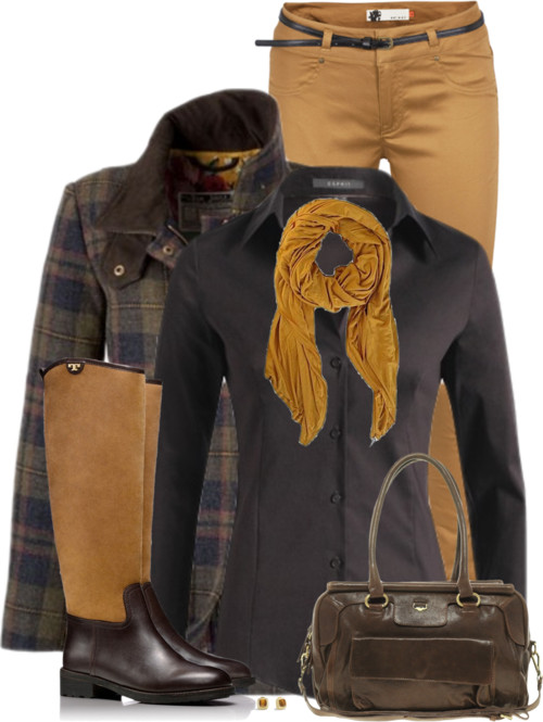 Shearling Riding Boots Fall Outfit outfitspedia