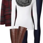 Simple Plaid Duffle Coat Casual Fall Outfit