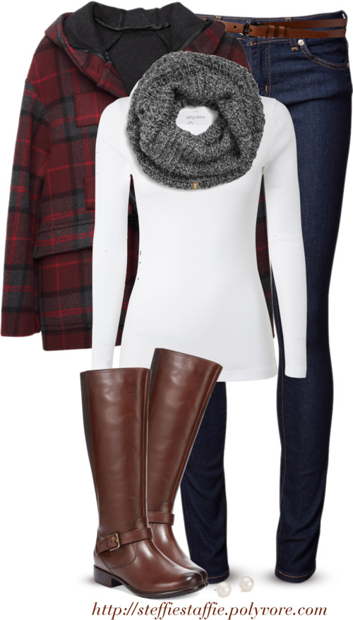 Simple Plaid Coat Casual Fall Outfit outfitspedia