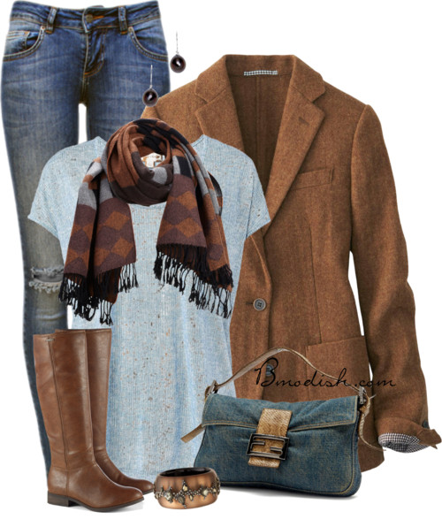 Soft Tweed Blazer Fall Outfit outfitspedia