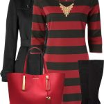 Striped Sweater Dress Classy Fall Outfit
