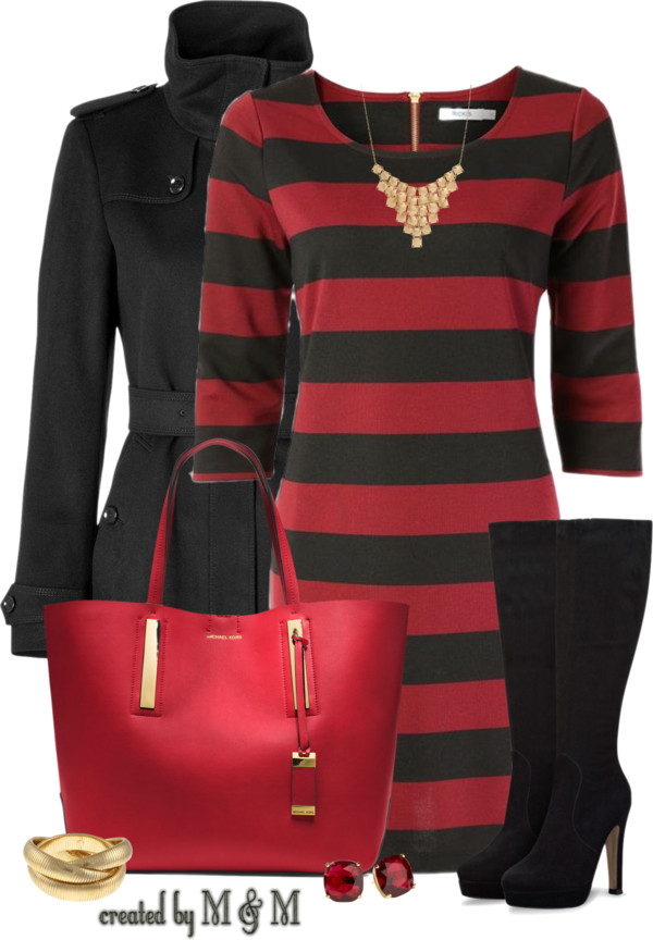 Striped Sweater Dress Classy Fall Outfit outfitspedia