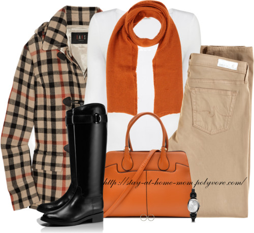 Stylish Duffle Coat With Riding Boots outfitspedia