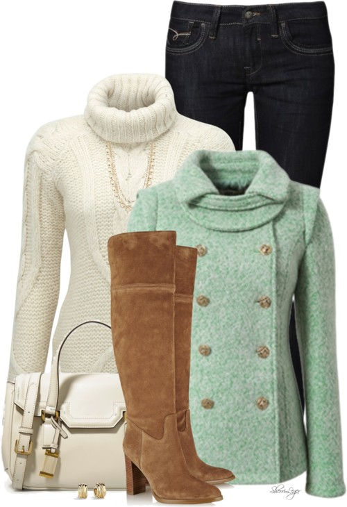 Super Slouch Roll Neck Fall Outfit outfitspedia