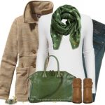 Terracotta Fly Scarf Fall Outfit