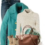 Turquoise Majesty Peacoat Fall Outfit