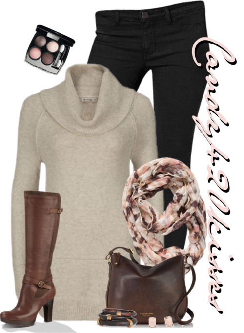 Ultra-Soft Cowl Tunic Fall Outfit outfitspedia