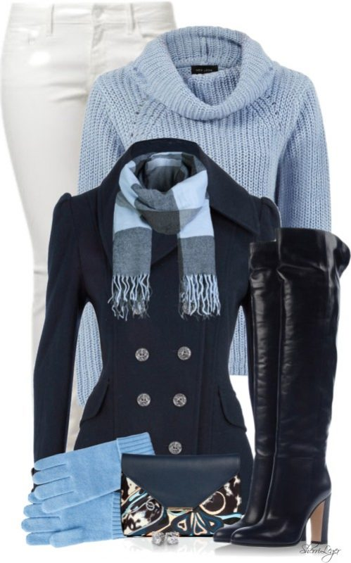 Winter Navy Nautical Coat Outfit Outfitspedia