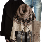 American Eagle Sweater Poncho Winter Outfit