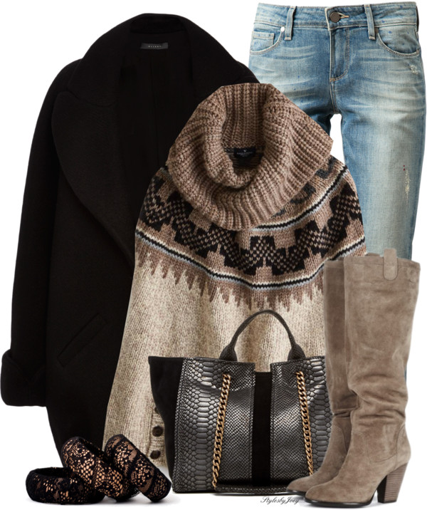 American Eagle Sweater Poncho Winter Outfit outfitspedia