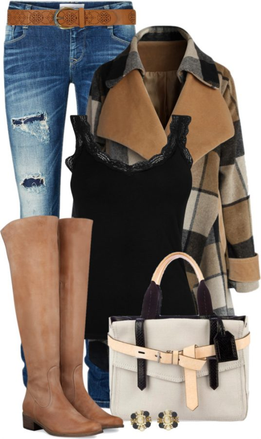 Back To Earth Drape Coat Casual Fall Outfit outfitspedia