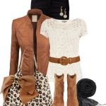 Betsey Johnson Leopard Bag Fall Outfit
