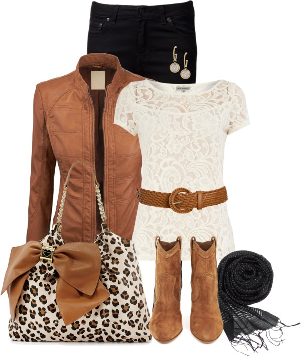Betsey Johnson Leopard Bag Fall Outfit outfitspedia