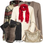 Bright Solid Scarf Fall Outfit