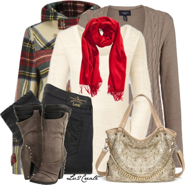 Bright Scarf Fall Outfit outfitspedia