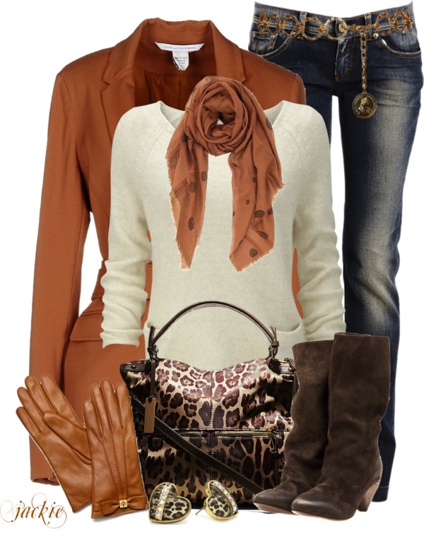 Brown Blazer and Jeans Fall Outfit outfitspedia