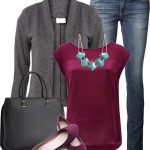 Burgundy Blouse Casual Weekend Outfit
