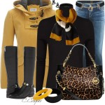 Camel Duffle Coat Fall Winter Outfit