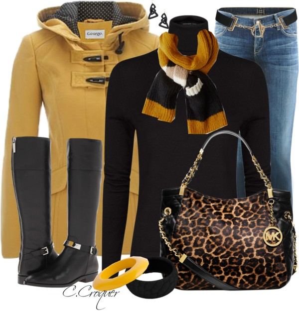 Camel Duffle Coat Fall Winter Outfit outfitspedia