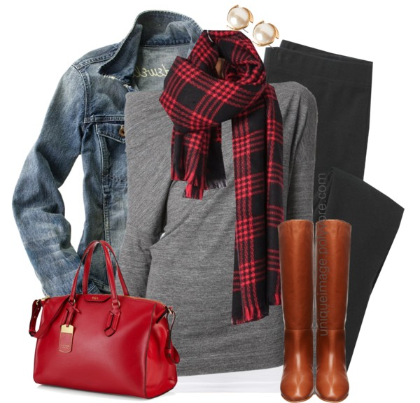 Casual Drape Top Fall Outfit outfitspedia