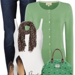 Casual Green Weekender Bag Spring Outfit