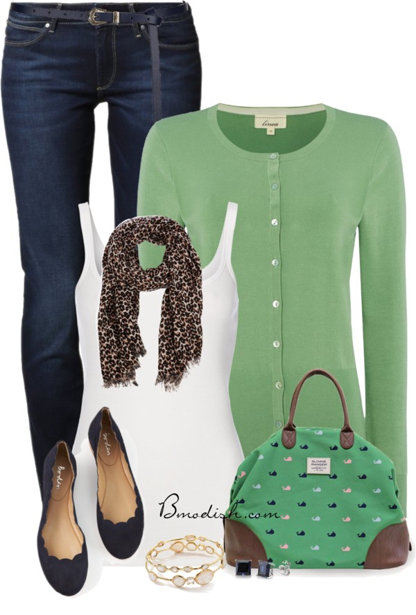 Casual Green Weekender Bag Spring Outfit outfitspedia