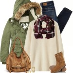 Casual All Seasons Parka For Winter Outfit