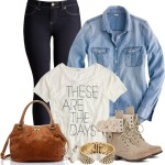 Chambray Shirt Casual Teen Outfit