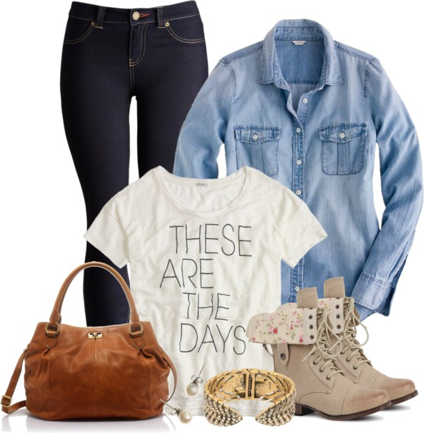 Chambray Shirt Casual Teen Outfit outfitspedia