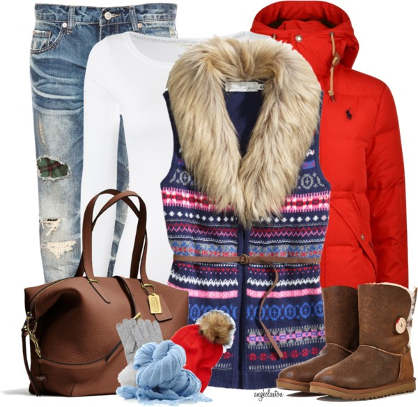 Cozy Knit Vest Winter Outfit outfitspedia