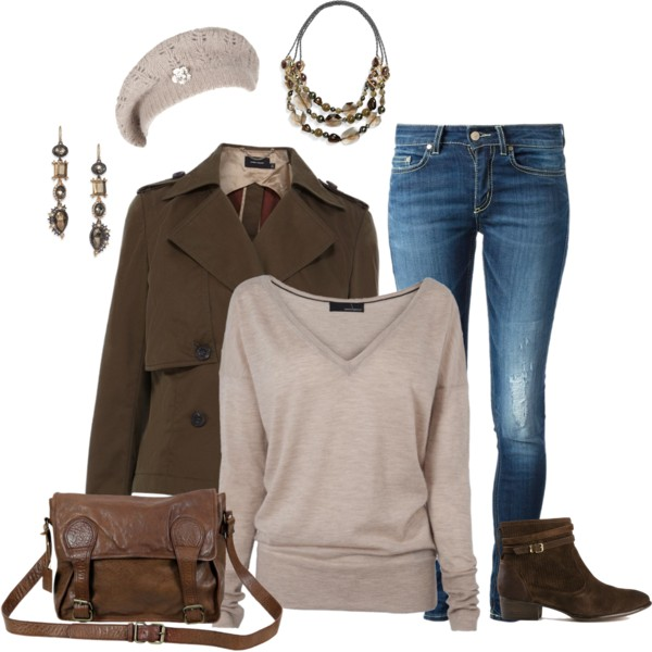 Cropped Cotton Trench Jacket Fall Outfit outfitspedia