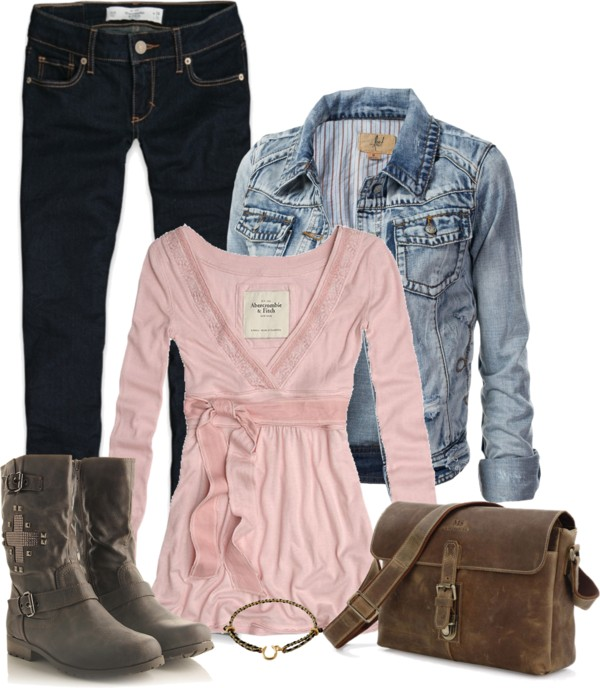 Denim, Leather and Metal Casual Outfit outfitspedia