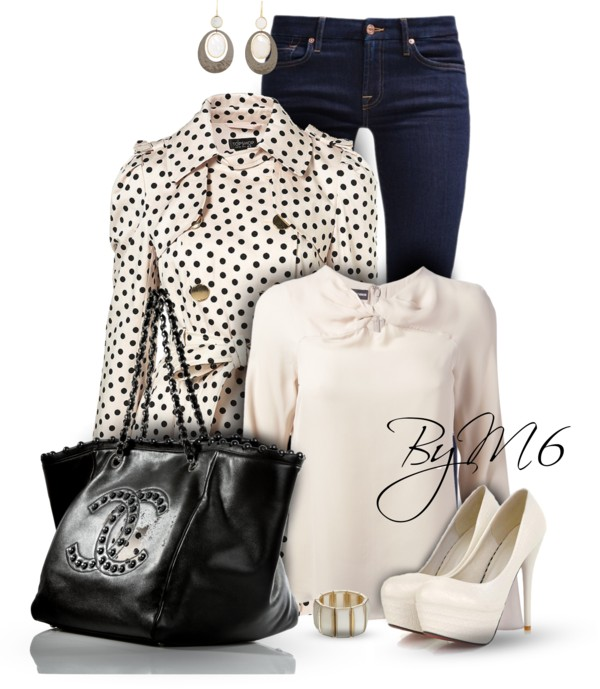 Double Bow Trench Coat Cute Fall Outfit outfitspedia