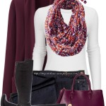 Floral Infinity Scarf Casual Fall Outfit