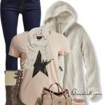 Honeycomb Hoodie Cute Fall Outfit