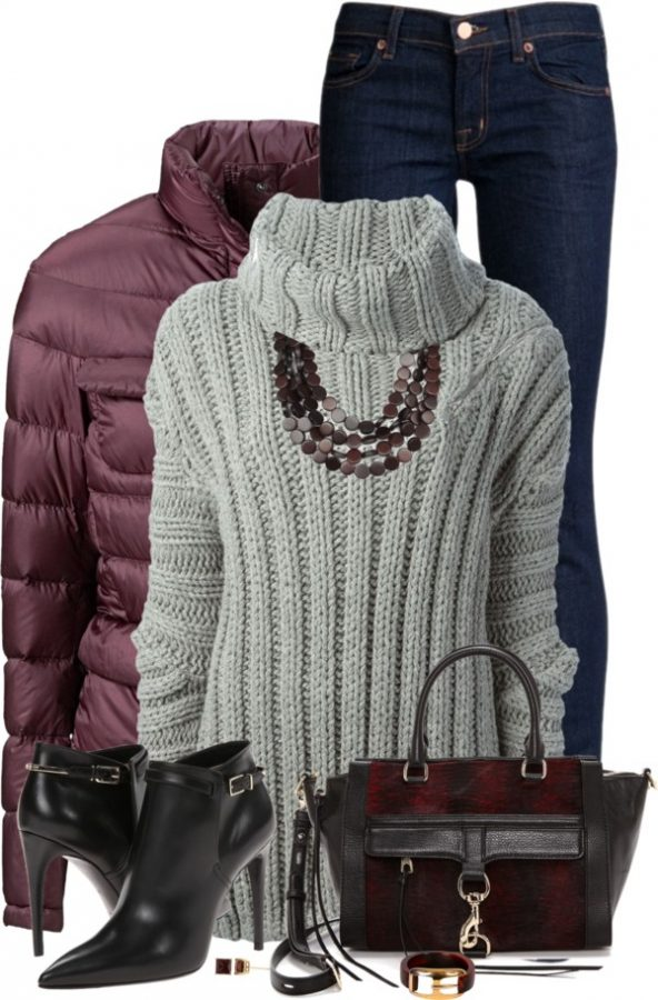 JAY AHR Turtle Neck Sweater Winter Outfit outfitspedia