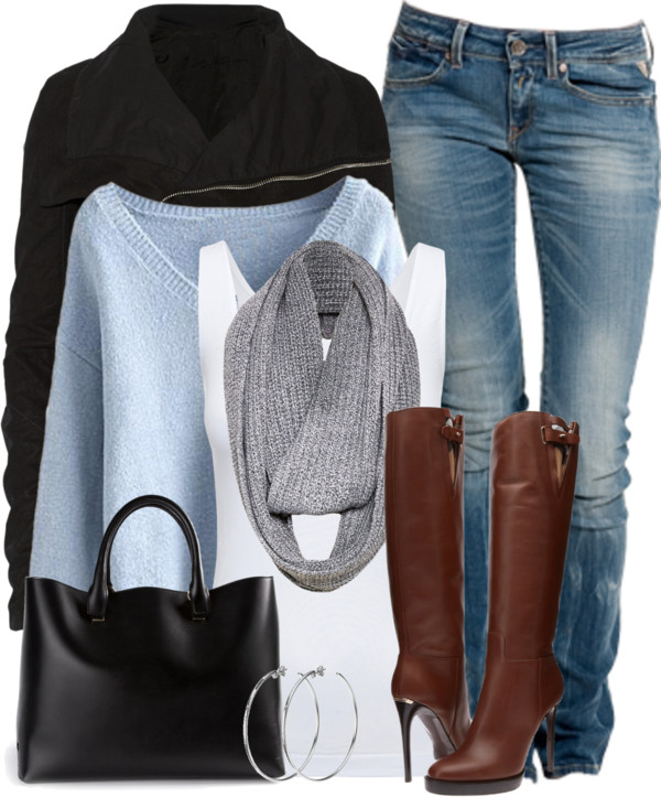 Knee High Boots Cozy Fall Outfit outfitspedia