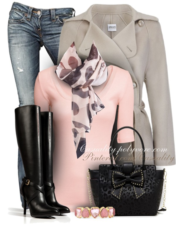 Leopard, Pink and Bow Fall Outfit outfitspedia