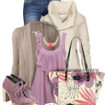 Lilac Cami Cute Fall Outfit