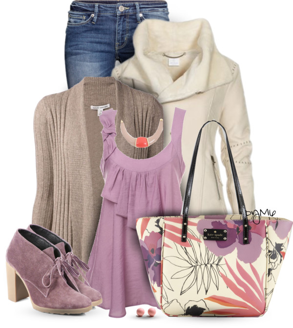Lilac Cami Cute Fall Outfit outfitspedia