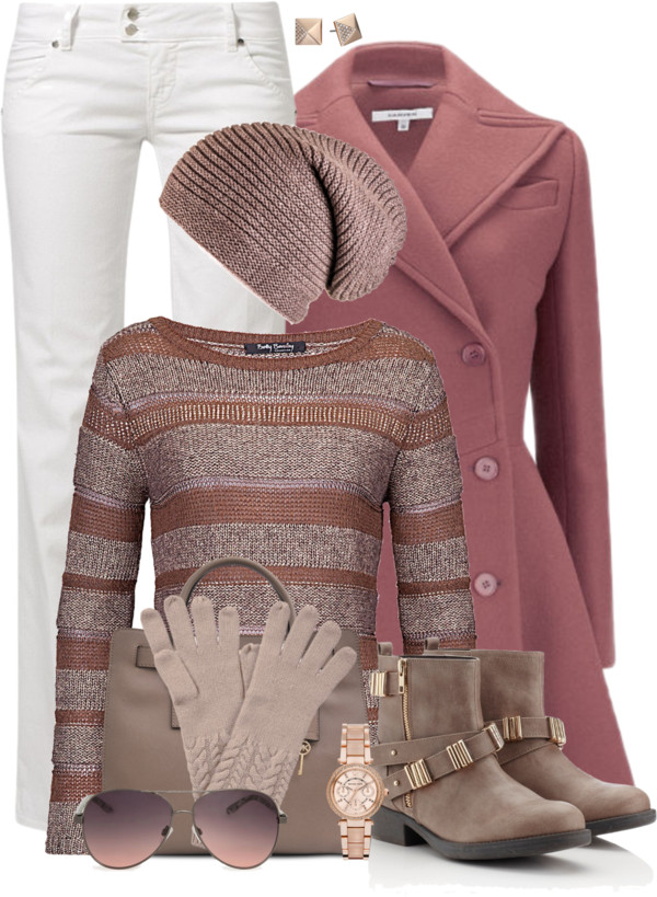 Lovely Blush Winter Outfit outfitspedia