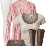 Lovely Pink and Brown Casual Spring Outfit