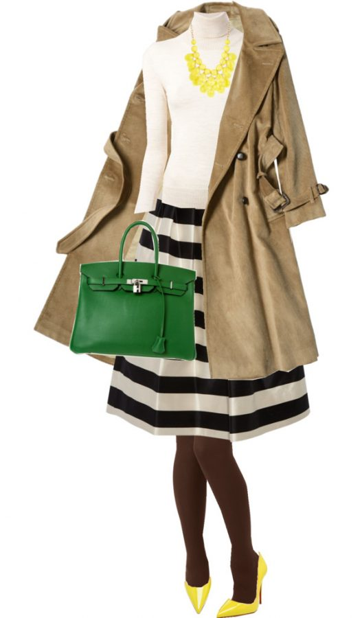 Midi Skirt With Turtleneck Classy Fall Outfit outfitspedia