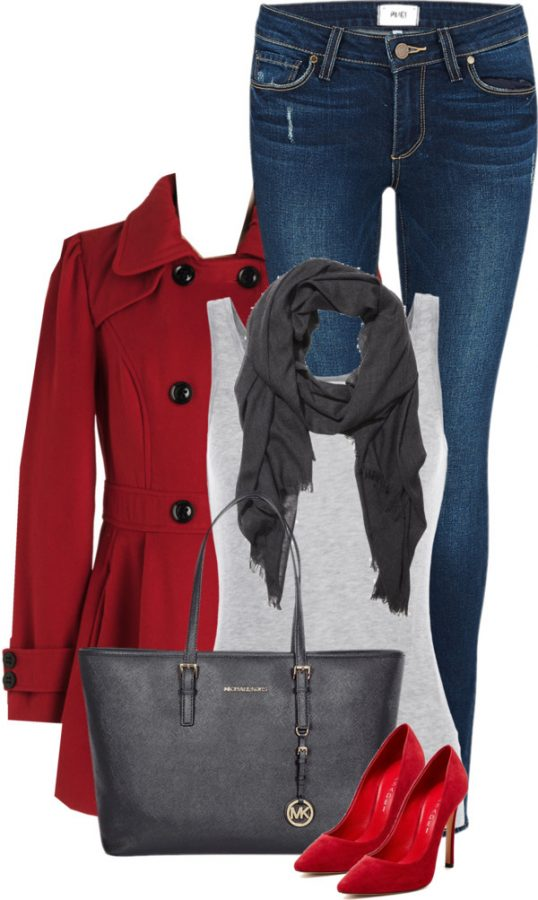 Military Double Breasted Coat Fall Outfit outfitspedia